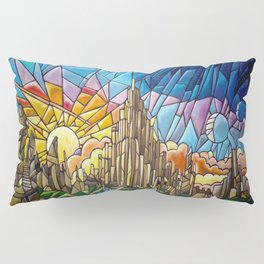 Asgard stained glass style Pillow Sham