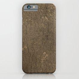 Rustic Tree Bark Pattern iPhone Case