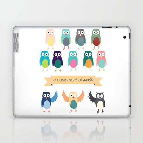 A Parliament of Owls Laptop & iPad Skin