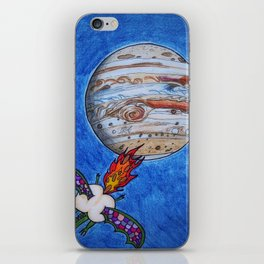 Butt Dragon In Space iPhone Skin