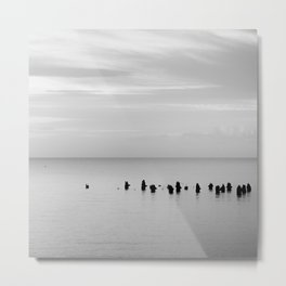 BEACH DAYS XXVIII BW Metal Print