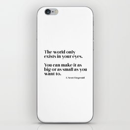 The world only exists in your eyes iPhone Skin