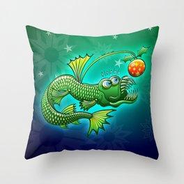 Christmas Abyssal Angler Fish Throw Pillow