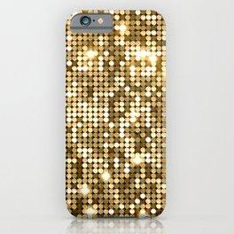 Golden Metallic Glitter Sequins iPhone Case