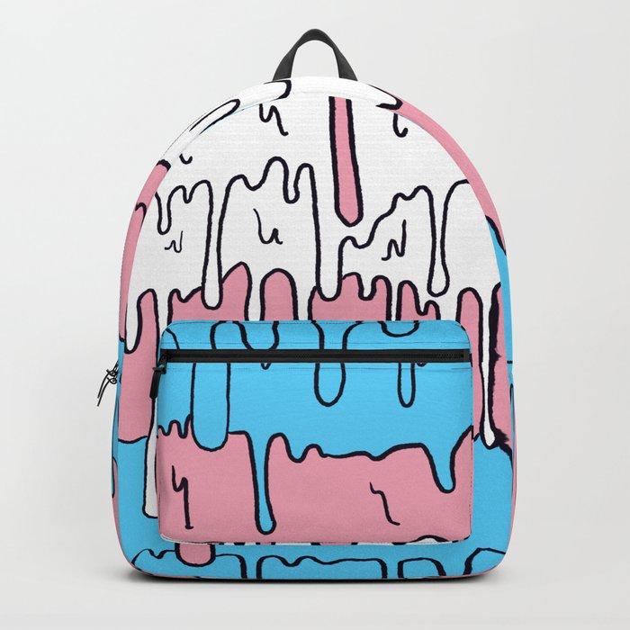 Pastel Kawaii Melting Trans Pride LGBTQ Design Backpack