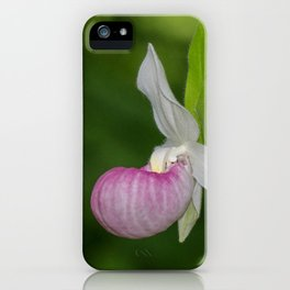 Elegant Pink Lady's Slipper iPhone Case