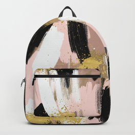Blush and Gold Abstract Backpack