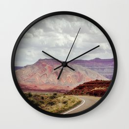 Painted Mountain Wall Clock