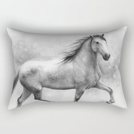 Horse II - pencil drawing Rectangular Pillow