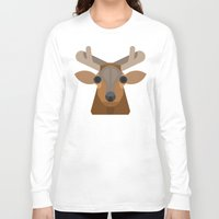 elk Long Sleeve T-shirts featuring Elk by A.D.