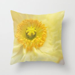 Icelandic Poppy Sweetness Throw Pillow