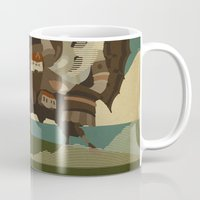 castle Mugs featuring Moving Castle by Danny Haas