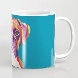 Boxer Face Blue boxer dog breed funny dog animals pets Coffee Mug