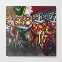 Dictatorship of the Científicos & Porfirio Diaz to the Revolution Portrait by David Alfaro Siqueiros Metal Print
