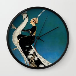 "George Wolfe Plank ""The Peacock"" Magazine Illustration  Wall Clock"