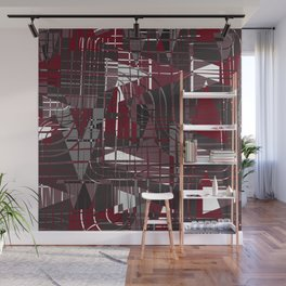 Land of Red Wall Mural