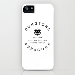 DUNGEONS & DRAGONS - WHERE THE IMPOSSIBLE BECOMES POSSIBLE iPhone Case