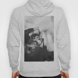 Woman and man, dancers, black and white Hoody