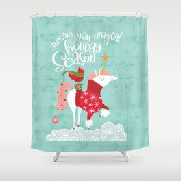 Wishing You a Magical Holiday Season Shower Curtain