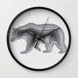 Paper Bear Wall Clock