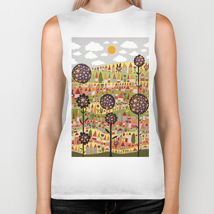 starflowers Biker Tank