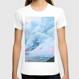 Pastel volcano smoke T-shirt