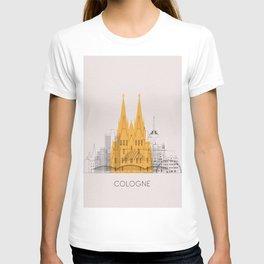Cologne Landmarks Poster T-shirt