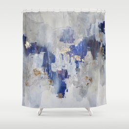 North Gold Shower Curtain