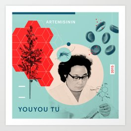 Beyond Curie: YouYou Tu Art Print