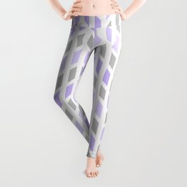 Purple Gray Chevron Mosaic Tile Leggings