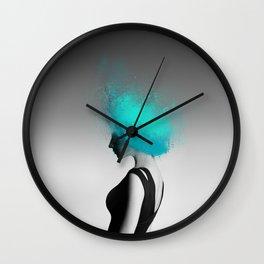 Powder Head Teal Wall Clock