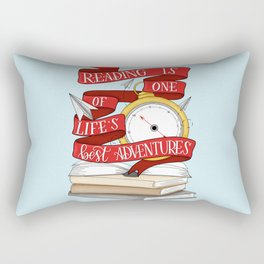 Reading is One of Life's Best Adventures Rectangular Pillow
