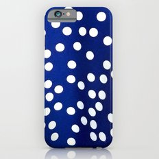 Blue Polka Dots iPhone 6s Slim Case