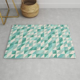 Hashed Blue Rug