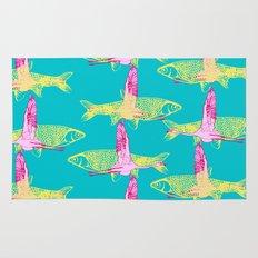 Flamingos and Fish Rug