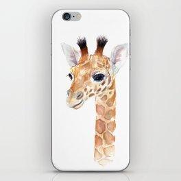 Baby Giraffe Cute Animal Watercolor iPhone Skin