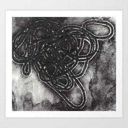 Yarn Collagraph Art Print