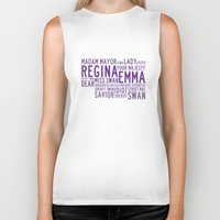 ouat Biker Tanks featuring Swan Queen Nicknames - Purple (OUAT) by CLM Design