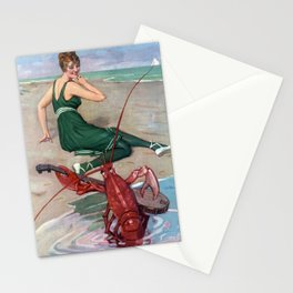 Lobster Attack! Vintage 1910s Beach Vacation Stationery Cards
