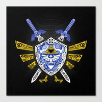 legend of zelda Canvas Prints featuring Heroes Legend - Zelda by Art & Be