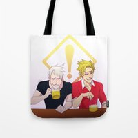 hetalia Tote Bags featuring APH: Beer Friends by Jackce