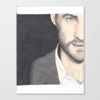 ouat Canvas Prints featuring OUAT Colin O'Donoghue by laurensarts