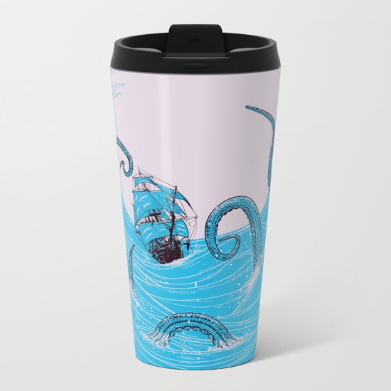 Kraken's Whirlpool Metal Travel Mug
