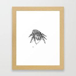 Inktober 2016: Jumping Spider Framed Art Print