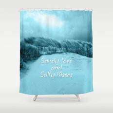 Sand and Kisses Shower Curtain