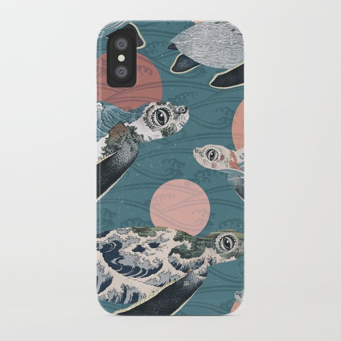 Sea Turtle Polka iPhone Case