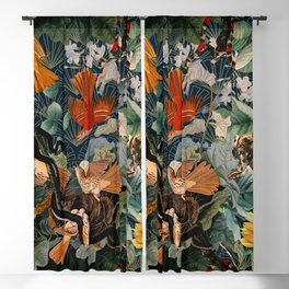 Birds and snakes Blackout Curtain