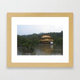 kinkaku-ji. kyoto, japan. Framed Art Print