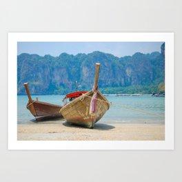 Longtail Boat Art Print