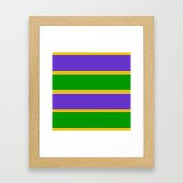 Mardi Gras Stripes Framed Art Print